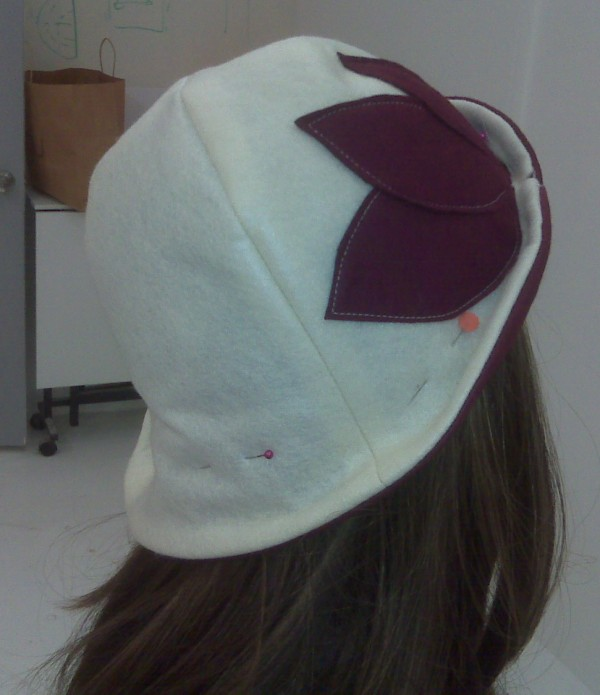 wool cloche four-panel