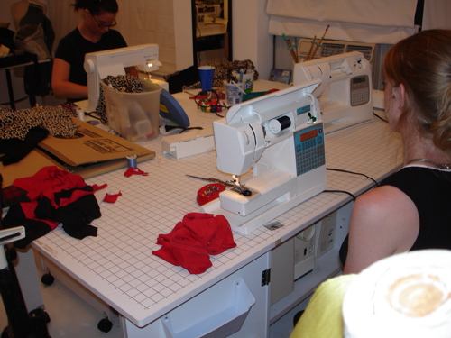 sewing table set-up
