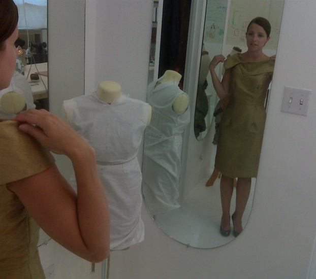 Final fitting Amie Dowker.