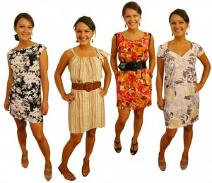 Four looks from one basic sloper.