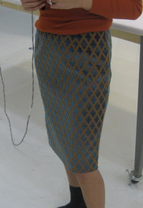 Natalie shows off McCall's #3830 at Tchad LLC she made in her sewing classes in Chicago