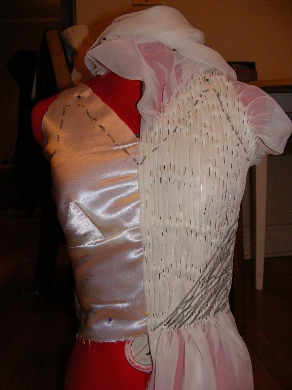 Initial Bodice Drape