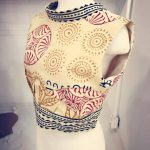 Verena's draped sleeveless blouse done at Tchad workrooms