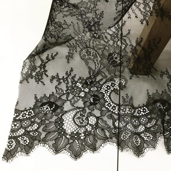Chantilly lace from Fishman's Fabrics in Chicago Netta used at Tchad workrooms
