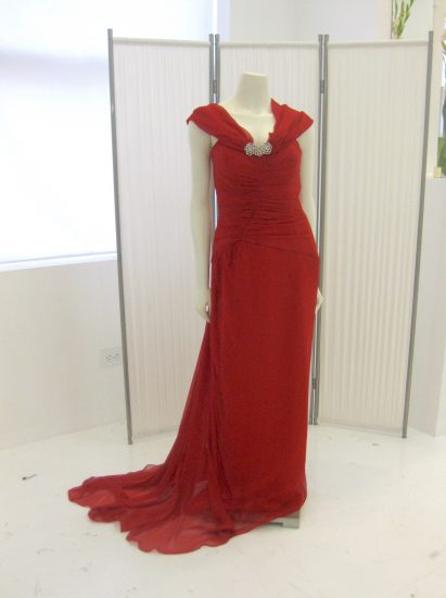 Sewing classes in chicago: Tchad: Debbie permoda: Finished gown: Vogue #2890