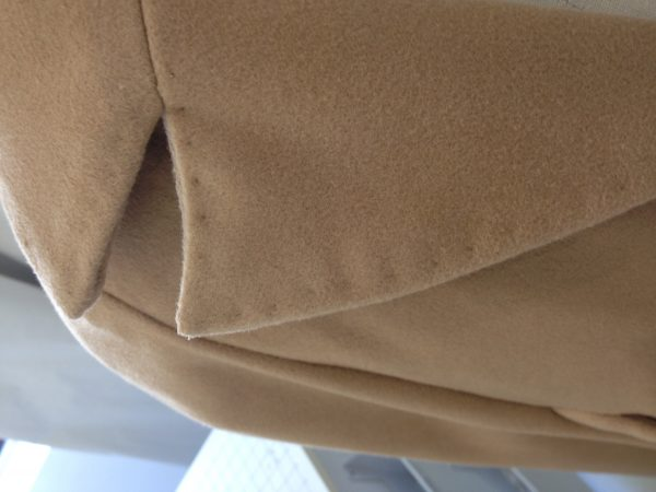 sewing classes in Chicago: tchad: Ying: cashmere: cape: simplicity: 6680: pick stitch detail