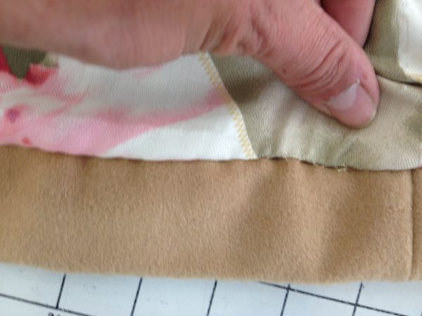 sewing classes in Chicago: tchad: Ying: cashmere: cape: simplicity: 6680: slipstitch detail