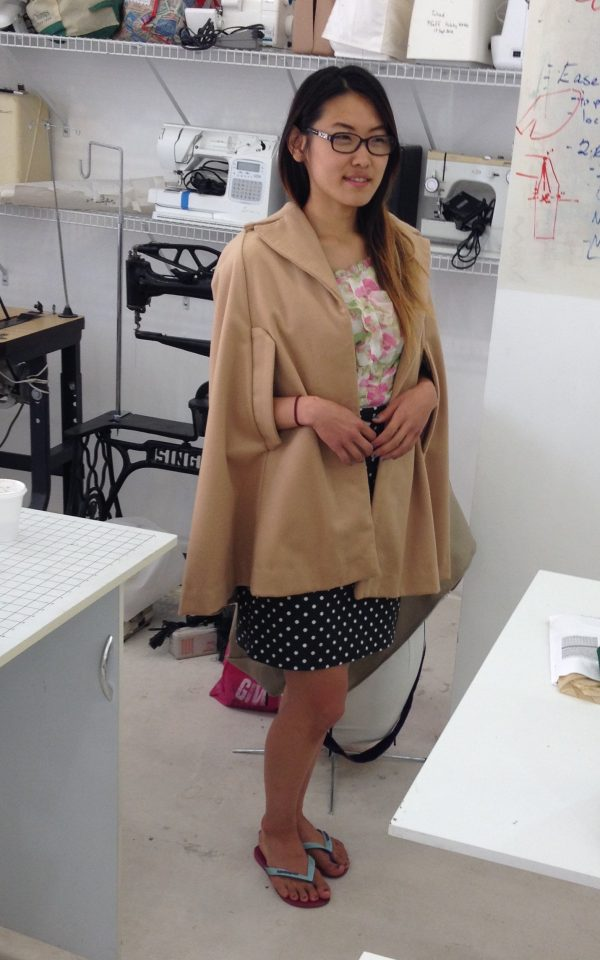 sewing classes in chicago: tchad: simplicity: 6680: ying: zoe: cashmere: silk