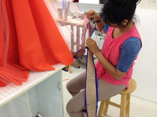 Sewing classes in chicago: tchad: workroom: workshop: reshma: lehenga: choli: gagra: trim: hemming