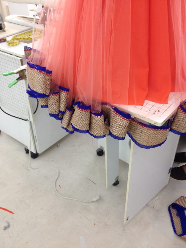 Sewing classes in chicago: tchad: reshma: workroom: workshop: studio: lehenga: choli: hem: ghagra
