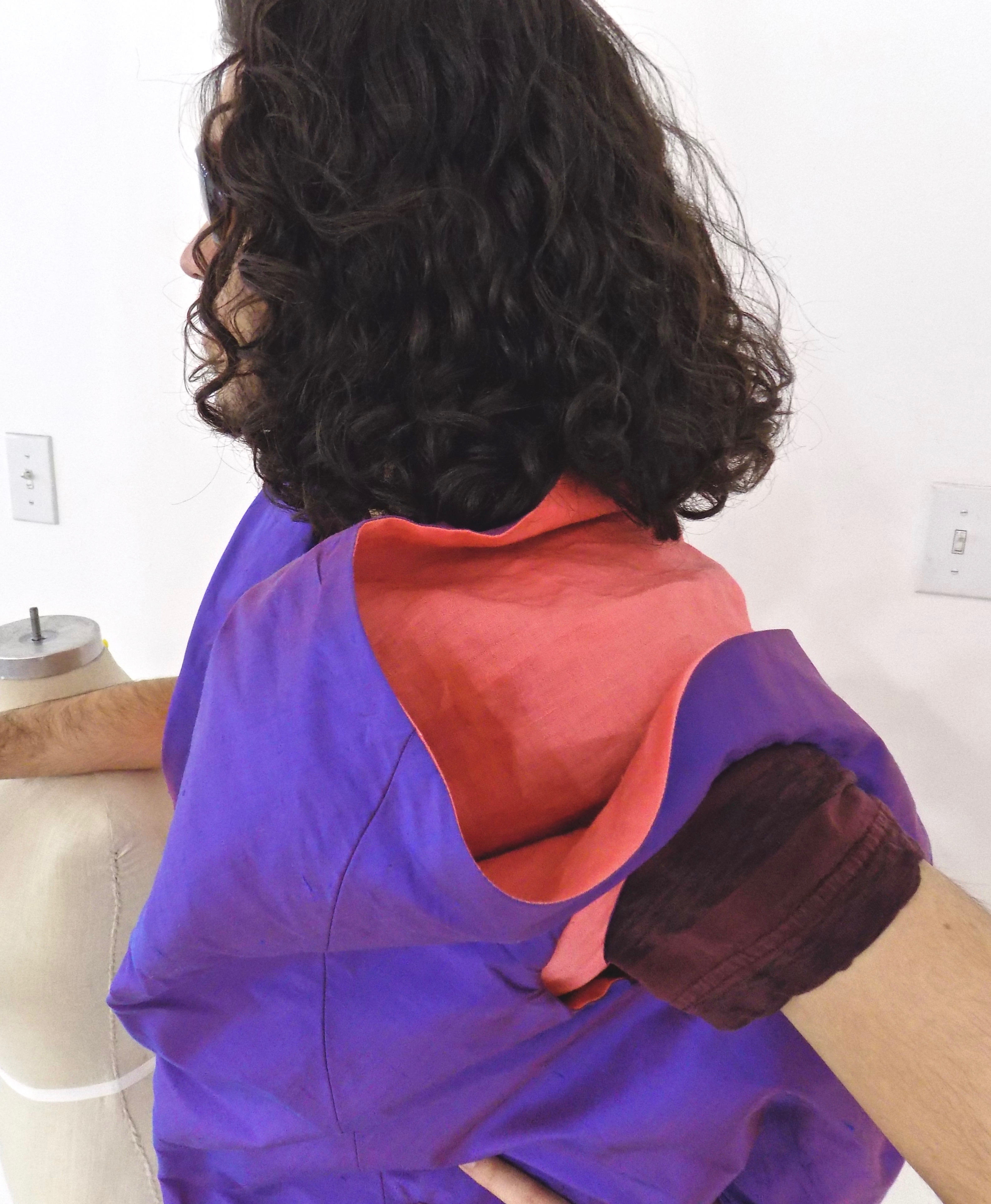 Sewing classes in chicago: tchad: workroom: studio: nathan: asymmetric: vest: detail