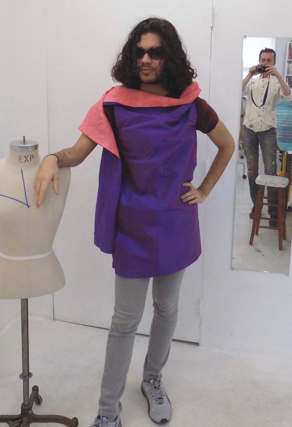 sewing classes: chicago: tchad: nathan: asymmetric vest: linen: silk