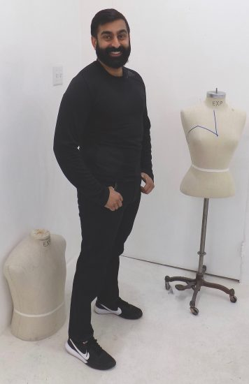 Sewing classes in chicago: tchad: workroom: studio: student project: ankit: pattern drafting: jeans: custom