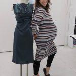Sewing classes in Chicago: tchad: netta: burda: 7202: silk: teal: hand sewn: pregnant