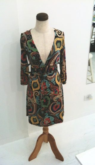 sewing classes in chicago: tchad: workroom: studio: sylvia: wrap dress: front