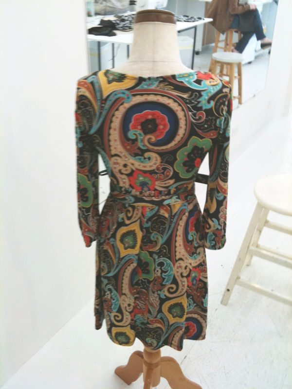 sewing classes in chicago: tchad: workroom: studio: sylvia: wrap dress: back