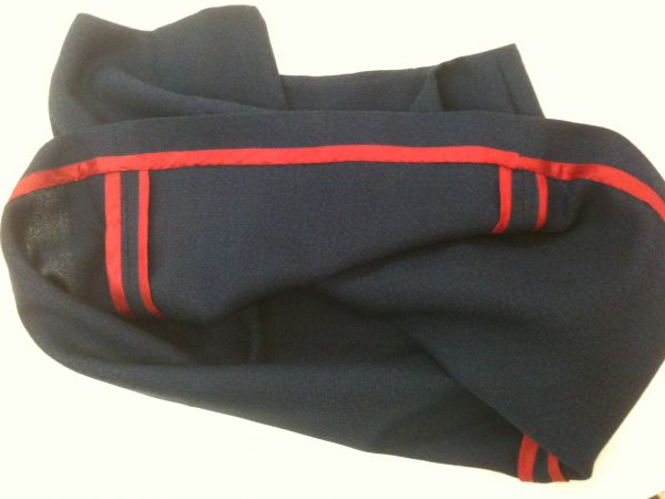 sewing classes in chicago: tchad: workroom: studio: mccalls: 3830: navy wool: red silk