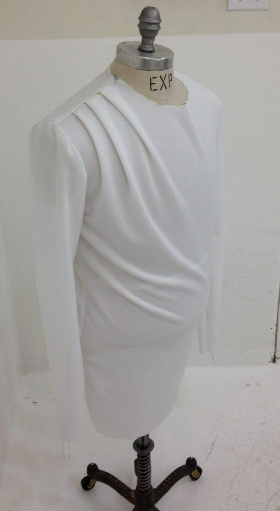 Sewing classes at tchad: pattern making: jonathan: asymmetrical drape: knit 3