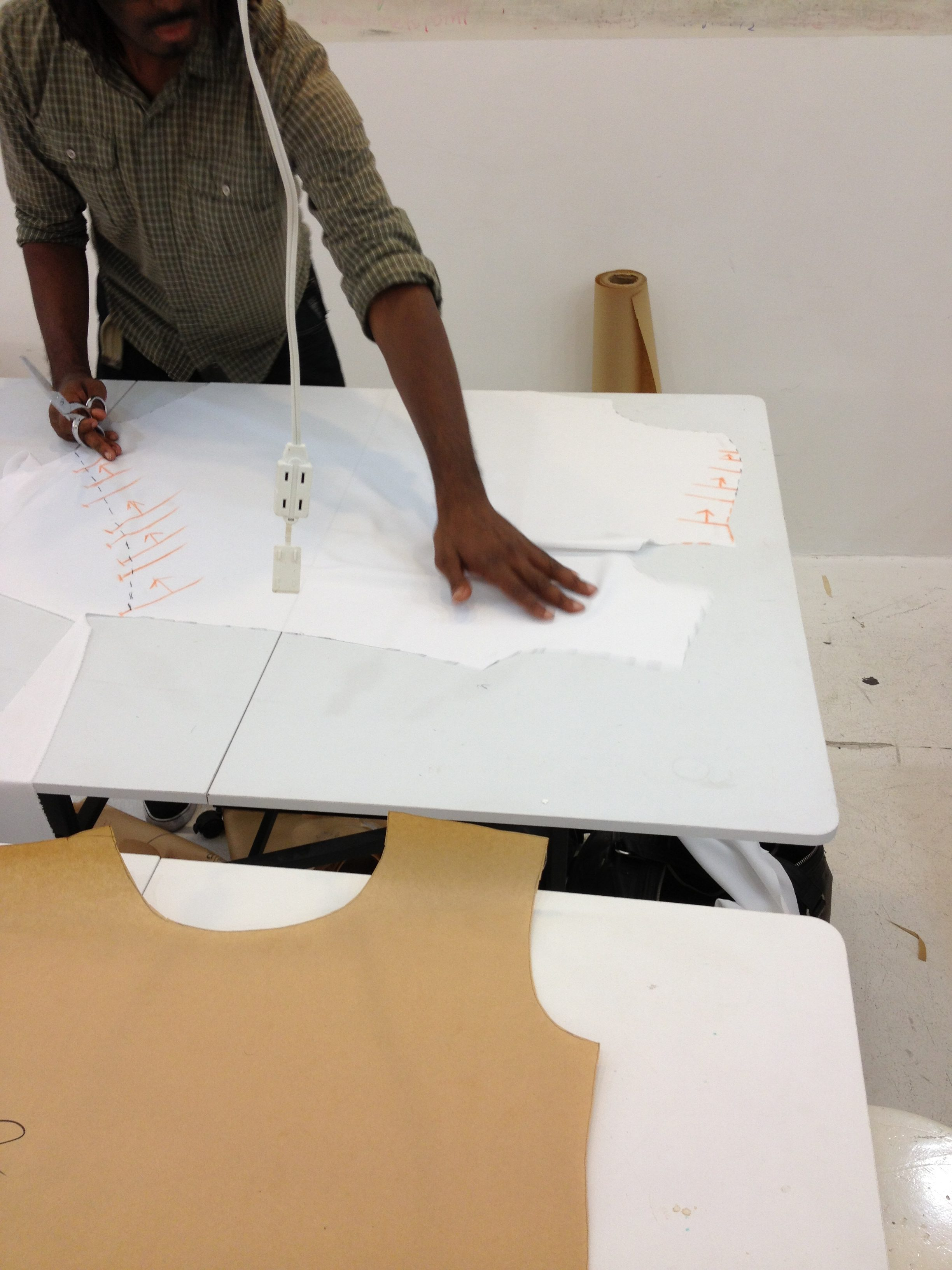 Sewing classes at tchad: pattern making: jonathan: asymmetrical drape: knit