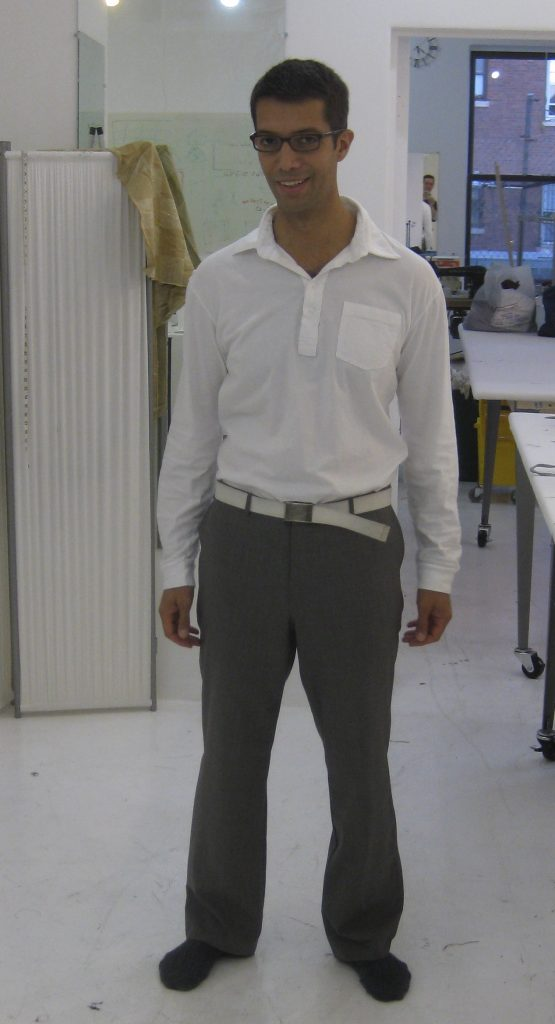 Sewing classes in Chicago: Tchad: Wally: Pants: Sewing studio: Burda: #6873Sewing classes in Chicago: Tchad: Wally: Pants: Sewing studio: Burda: #6873