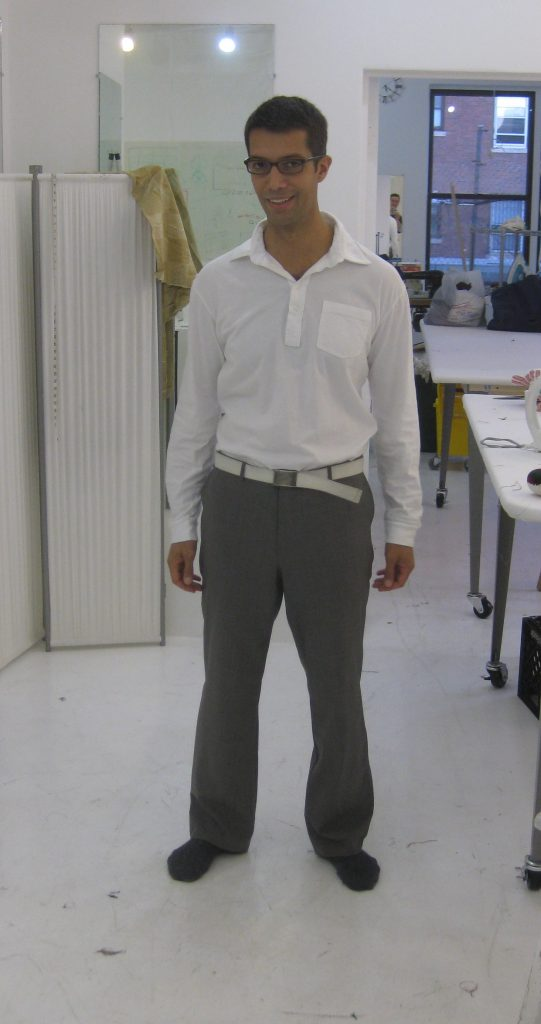 Sewing classes in Chicago: Tchad: Wally: Pants: Sewing studio: Burda: #6873