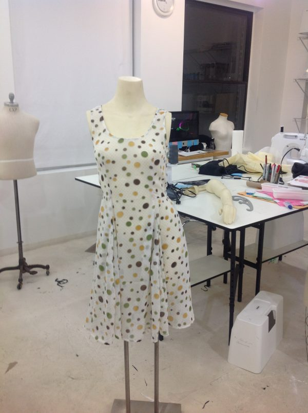 sewing classes in chicago: tchad: sheer: dress: first project