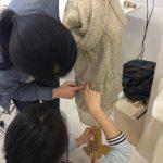 Sewing classes at tchad: workroom: studio: draping: Joy: dressform: sweater: 2