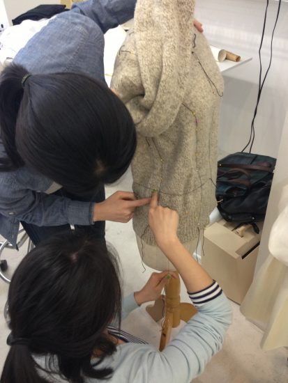 Sewing classes at tchad: workroom: studio: draping: Joy: dressform: sweater: 2