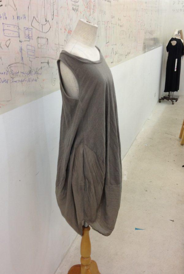Quick draped dress to breeze through the Summer heat.