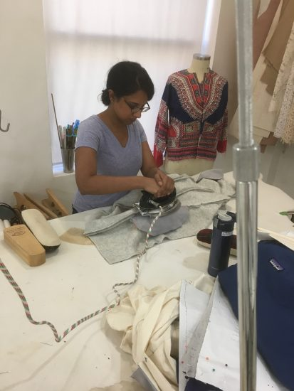 Sewing classes in chicago: tchad: workroom: kanya: wool: pressing heavy bulky seams