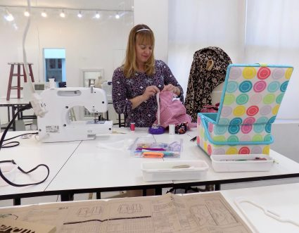 Sewing Classes in Chicago: Tchad: Erin Benoit: Workroom: Studio: Internal v. External