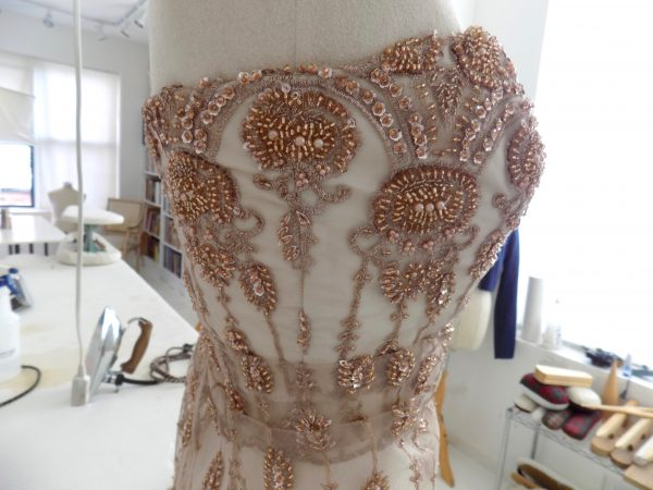Sewing Classes in Chicago: Beaded: Couture: Compromise: Tchad: Verena: Strapless: Bodice