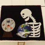 Melissa Dessent submits her finished art quilt to the Houston Quilt Show.