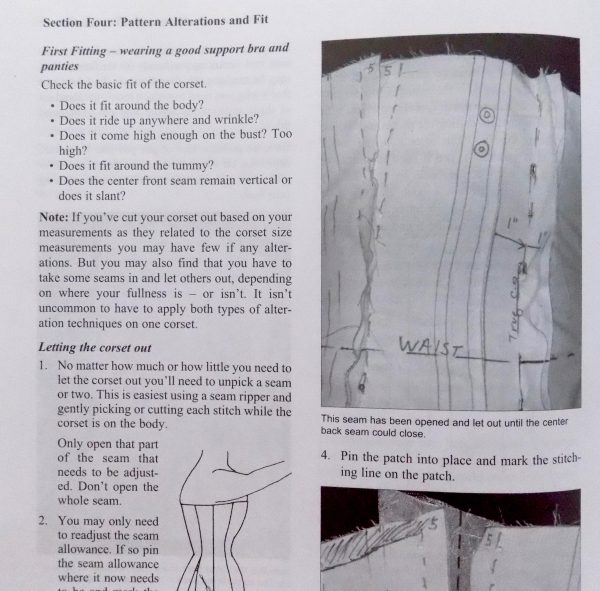 Basics of Corset building: Linda Sparks: Tchad Workroom Studio Library: Sewing classes in Chicago: fitting