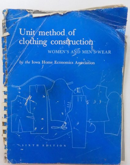 Sewing classes in Chicago: Tchad: Unit Method of Clothing Construction: IHEA: Workroom Sewing studio Library copy: