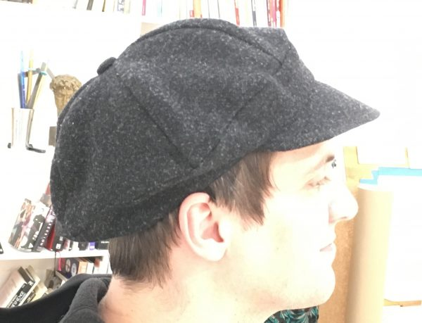 Sewing classes in Chicago: Tchad: Workroom: Studio: David Ray: Green Pepper: F724: Cap: Billed Beret: