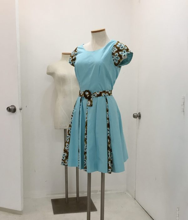 Sewing Classes in Chicago | Tchad | McCall's #M6834 on dress form in Chicago sewing studio workroom