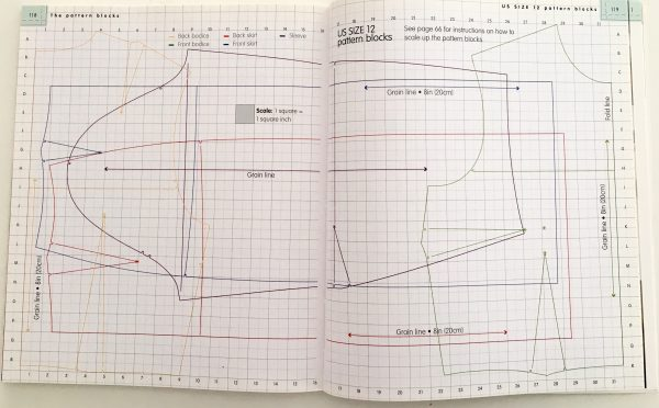 Sewing classes Chicago: Tchad: Workroom: Sewing Studio: Library: Lee Hollahan: Patternmaking: Basic Quarter blocks