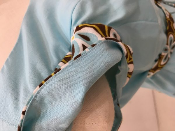 Sewing classes in Chicago | Tchad | Understitching details of Erin's first project at Tchad workrooms
