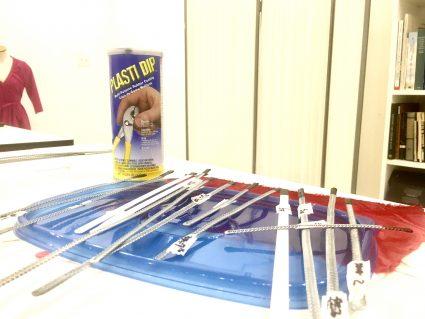 sewing class chicago | Tchad | Plastic-Dip | Boning | Workroom | Sewing Studio | tools